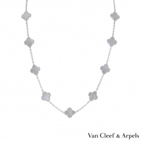Van Cleef & Arpels White Gold Alhambra Necklace VCARF48800